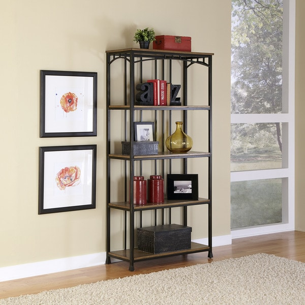 Modern Craftsman 5-Tier Multi-Function Shelves by Home Styles