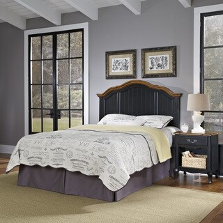 The French Countryside Full/ Queen Headboard and Night Stand by Home Styles