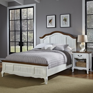 Home Styles The French Countryside King Bed and Night Stand