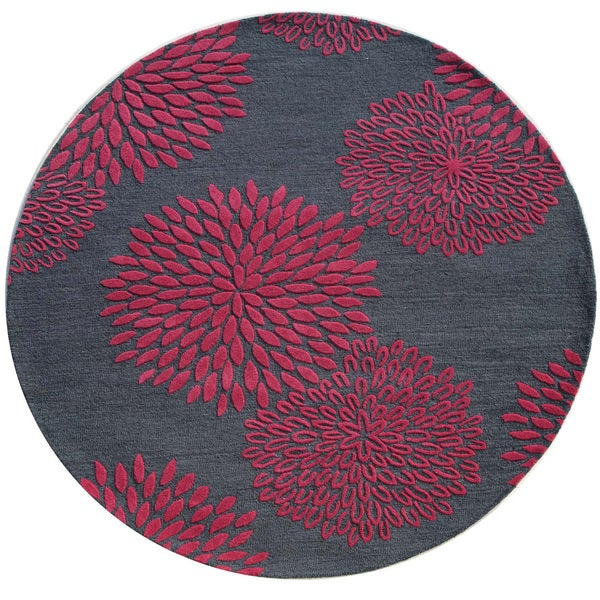 Shop Hand Tufted Blue 100 Percent Wool Rug 8x8 Free
