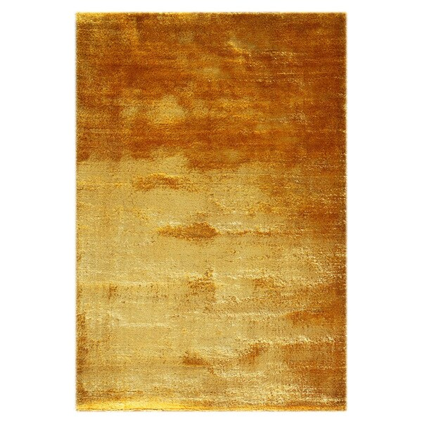 Shop Shag Gold Yellow 100 Percent Polyester Rug 5 6x8 6