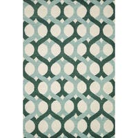 Hand-tufted Tatum Blue/ Green Wool Rug - 7'9 x 9'9