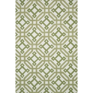Hand-tufted Tatum Ivory/ Green  Wool Rug (3'6 x 5'6)
