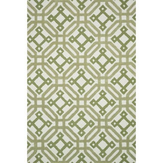 Hand-tufted Tatum Ivory/ Green Wool Rug (7'9 x 9'9)