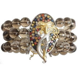 Michael Valitutti Two-tone Multi-sapphire and Smokey Quartz 'Lady' Bracelet