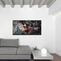 Ready2HangArt 'Silhouette' Oversized Abstract Acrylic Wall Art - Multi-color