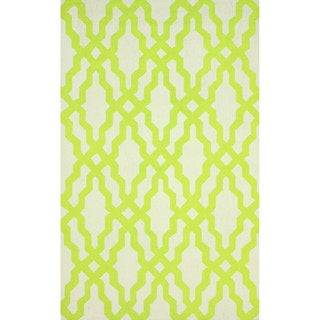 nuLOOM Handmade Wool Moroccan Trellis Grey Rug (7'6 x 9'6)
