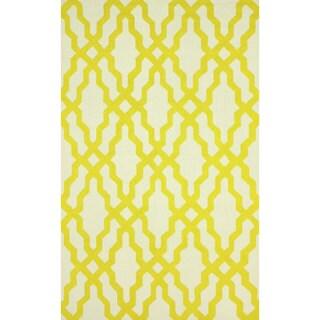 nuLOOM Handmade Wool Moroccan Trellis Gold Rug (5' x 8')