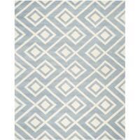 Safavieh Handmade Moroccan Chatham Squares-pattern Blue/ Ivory Wool Rug - 8' x 10'