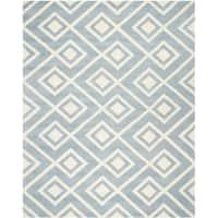 Safavieh Handmade Moroccan Chatham Blue/ Ivory Wool Rug - 9' x 12'