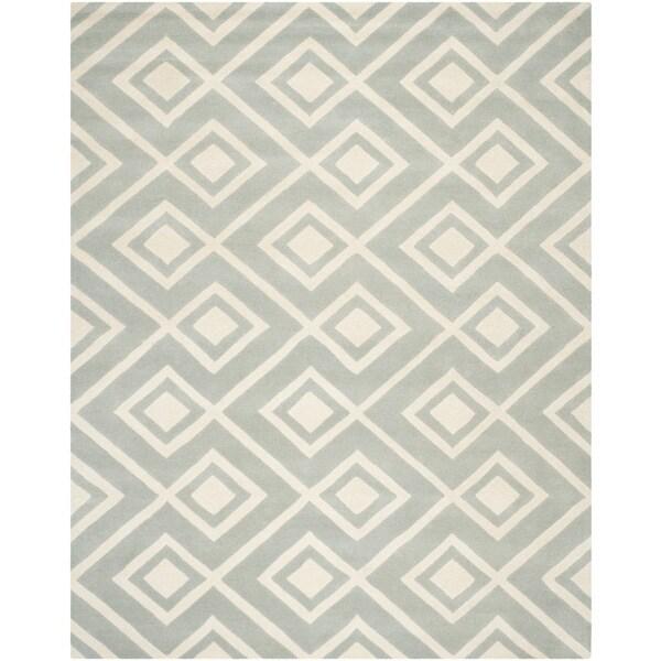 Durable Safavieh Handmade Moroccan Chatham Gray/ Ivory Wool Rug - 8' x 10'