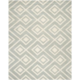 Safavieh Handmade Moroccan Chatham Contemporary Grey/ Ivory Wool Rug (8' 9 x 12')
