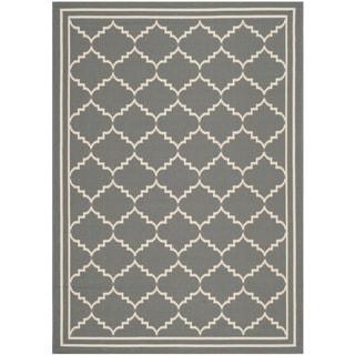 Safavieh Courtyard Transitional Grey/ Beige Indoor/ Outdoor Rug (2'7 x 5')