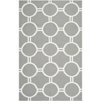 Safavieh Hand-woven Moroccan Reversible Dhurrie Grey/ Ivory Wool Rug - 9' x 12'