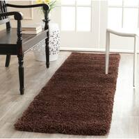 Safavieh Milan Shag Brown Runner Rug (2' x 6')