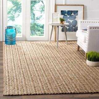 Safavieh Hand-woven Manhattan Beige/ Brown Polyester Rug (5' x 8')