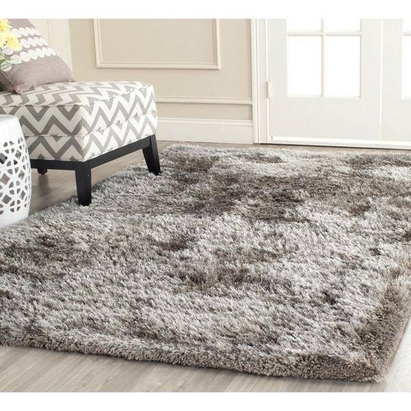 Safavieh handmade south beach shag silver polyester rug 8 for 8x8 living room