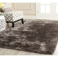 Safavieh Handmade South Beach Shag Latte Polyester Rug - 5' x 8'