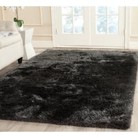 Safavieh Handmade South Beach Shag Charcoal Polyester Rug - 5' X 8'