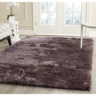 Safavieh Handmade South Beach Shag Lavender Polyester Rug (5' x 8')