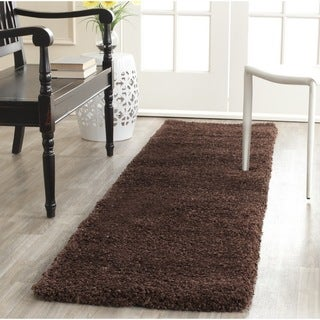 Safavieh Milan Shag Brown Runner (2' x 8')