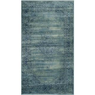Safavieh Vintage Oriental Turquoise Distressed Silky Viscose Rug (2'7 x 4')