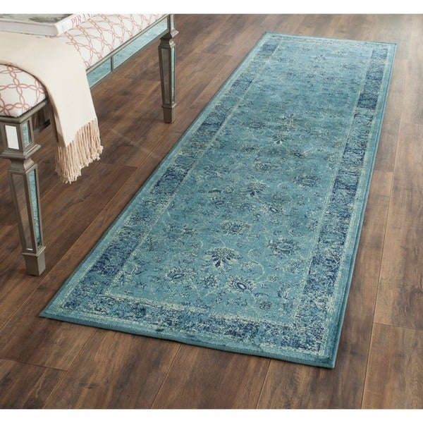 Shop Safavieh Vintage Oriental Turquoise Distressed Silky