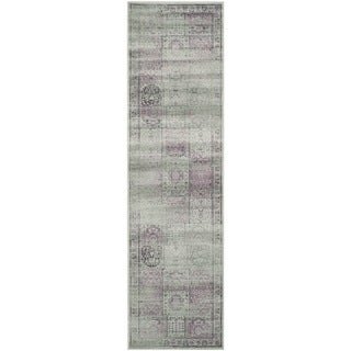 Safavieh Vintage Amethyst Distressed Panels Silky Viscose Rug (2'2 x 8')