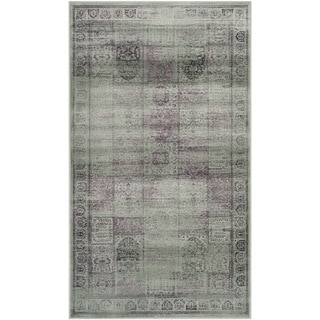 Safavieh Vintage Amethyst Distressed Panels Silky Viscose Rug (3' 3 x 5' 7)