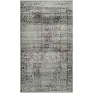 Safavieh Vintage Amethyst Distressed Panels Silky Viscose Rug (4' x 5'7)