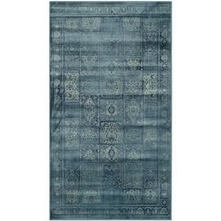 Safavieh Vintage Turquoise/ Multi Distressed Panels Silky Viscose Rug (3' x 5')