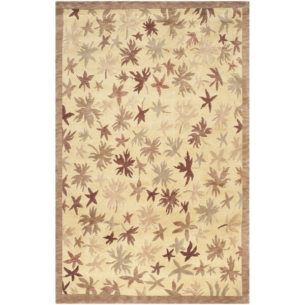 Safavieh Hand-knotted Tibetan Leaf Print Multicolored Wool Area Rug - 8' x 10'