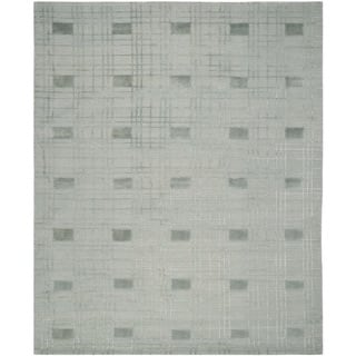 Safavieh Hand-knotted Tibetan Geometric Seafoam Wool Rug (9' x 12')|https://ak1.ostkcdn.com/images/products/8402754/8402754/Safavieh-Hand-knotted-Tibetan-Seafoam-Wool-Rug-9-x-12-P15703370.jpg?impolicy=medium