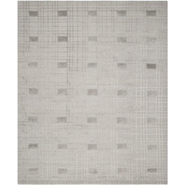 Safavieh Hand-knotted Tibetan Geometric Eucalyptus Wool Rug - 8' x 10'