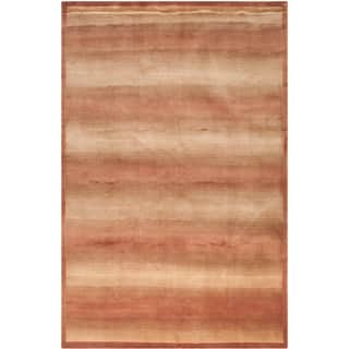 Safavieh Hand-knotted Tibetan Contemporary Striped Multicolored Wool/ Silk Rug (9' x 12')|https://ak1.ostkcdn.com/images/products/8402778/8402778/Safavieh-Hand-knotted-Tibetan-Multicolored-Wool-Silk-Rug-9-x-12-P15703385.jpg?impolicy=medium