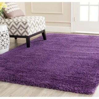 Safavieh Milan Shag Purple Rug - 5'1 x 8'