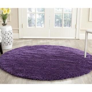 safavieh milan shag purple rug 5u00271 round