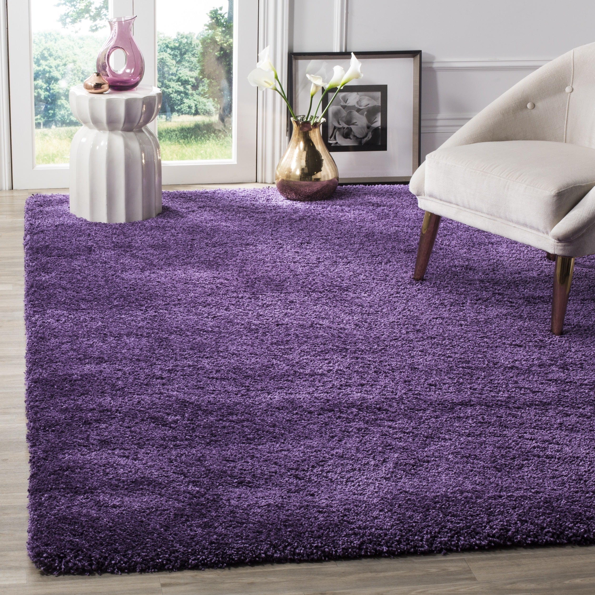 safavieh milan shag purple rug 8u0027 x