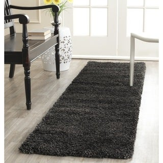 Safavieh Milan Shag Dark Grey Runner (2' x 6')