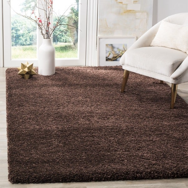 Safavieh Milan Shag Brown Rug 8 X 10 Free Shipping
