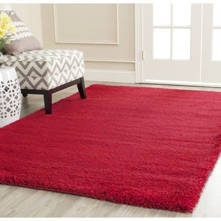 Safavieh Milan Shag Red Rug (5'1 Square)