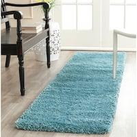 Safavieh Milan Shag Aqua Blue Rug (2' x 8')