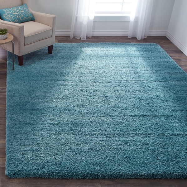 Shop Safavieh Milan Shag Aqua Blue Rug 8 X 10 On