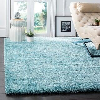 Safavieh Milan Shag Aqua Blue Rug (8'6 x 12')