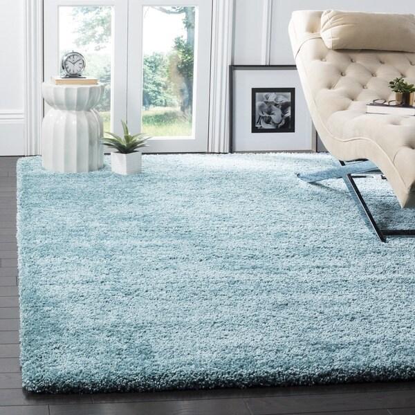 Safavieh Milan Shag Aqua Blue Rug - 8'6 x 12'