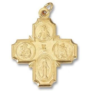 """Precious Metal Four Way """"I am Catholic"""" Medal (USA)"""