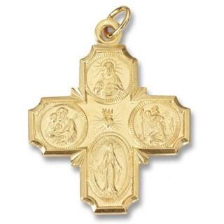 """Handmade Precious Metal Four Way """"I am Catholic"""" Medal (USA)"""