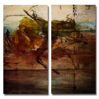 Ready2HangArt 'Abstract' Oversized 2-piece Canvas Wall Art Set