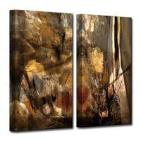 Ready2HangArt 'ETABX I' 2-Piece Abstract Canvas Wall Art Set - Brown