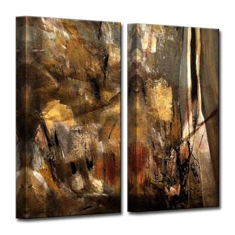 Ready2HangArt 'ETABX I' 2-Pc Rustic Abstract Canvas Art Set